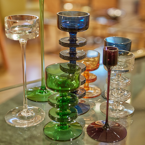 Collection of vintage glassware