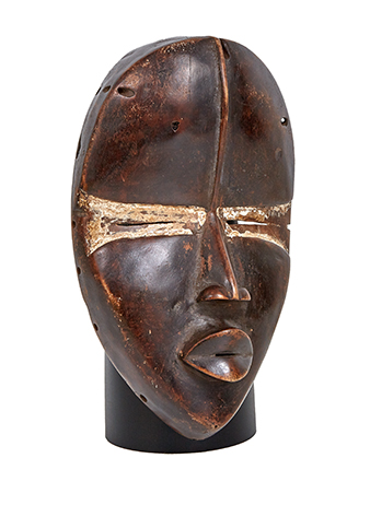 An African tribal mask made from wood