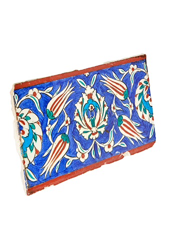 a hand painted iznik tile