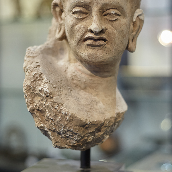 ancient sculpture piece of head
