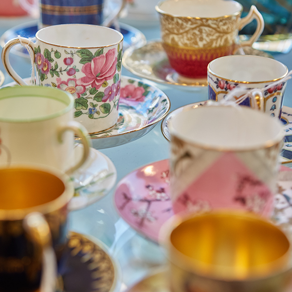 China tea cups and saucer