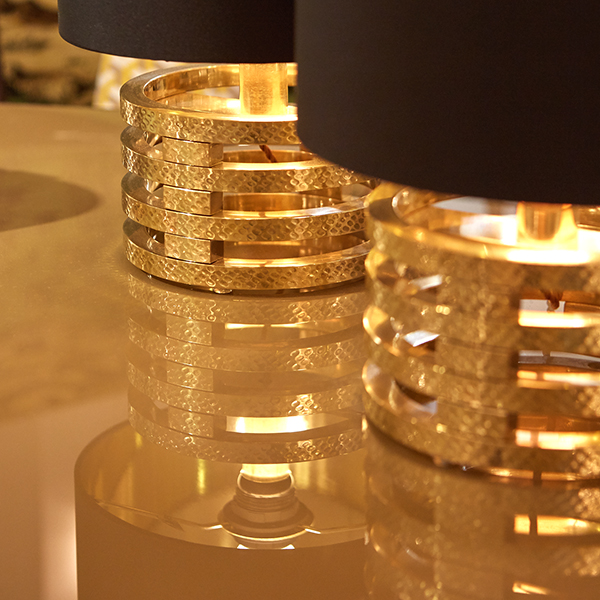 Pair of Gold side table lamps