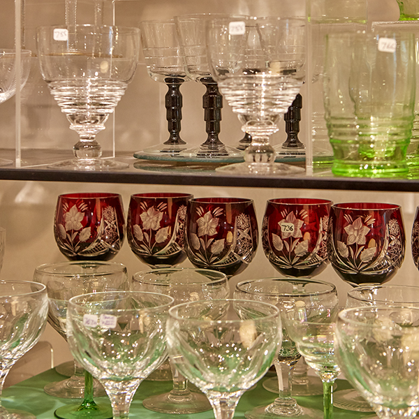 Vintage crystal glass collection
