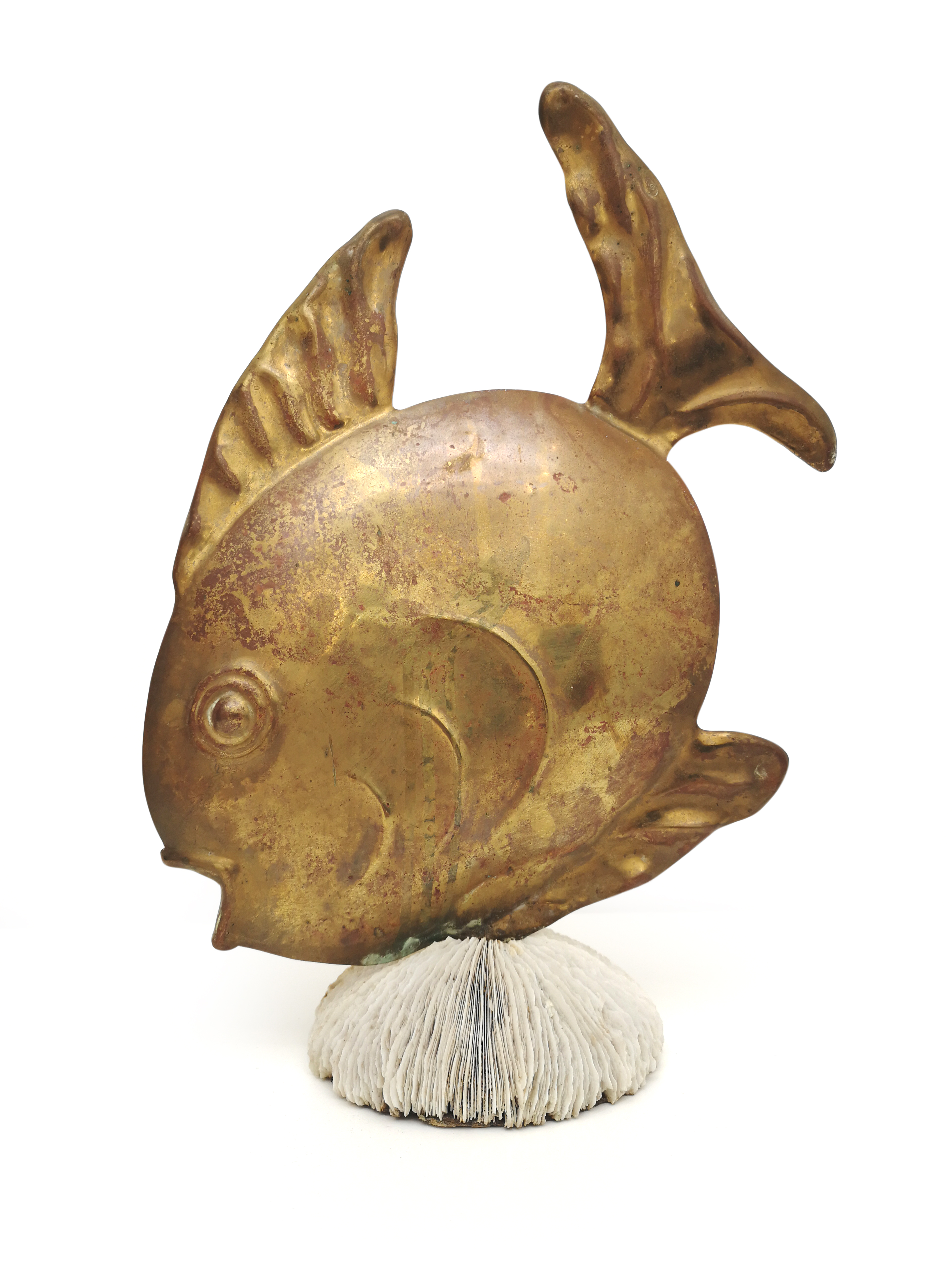 bronze sculpture of a fish